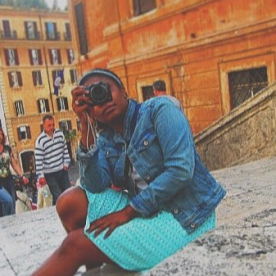 sister: doing what tourist do (Rome, Italy)