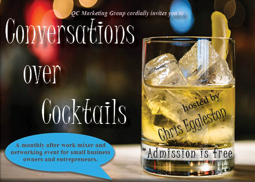 conversations over cocktails